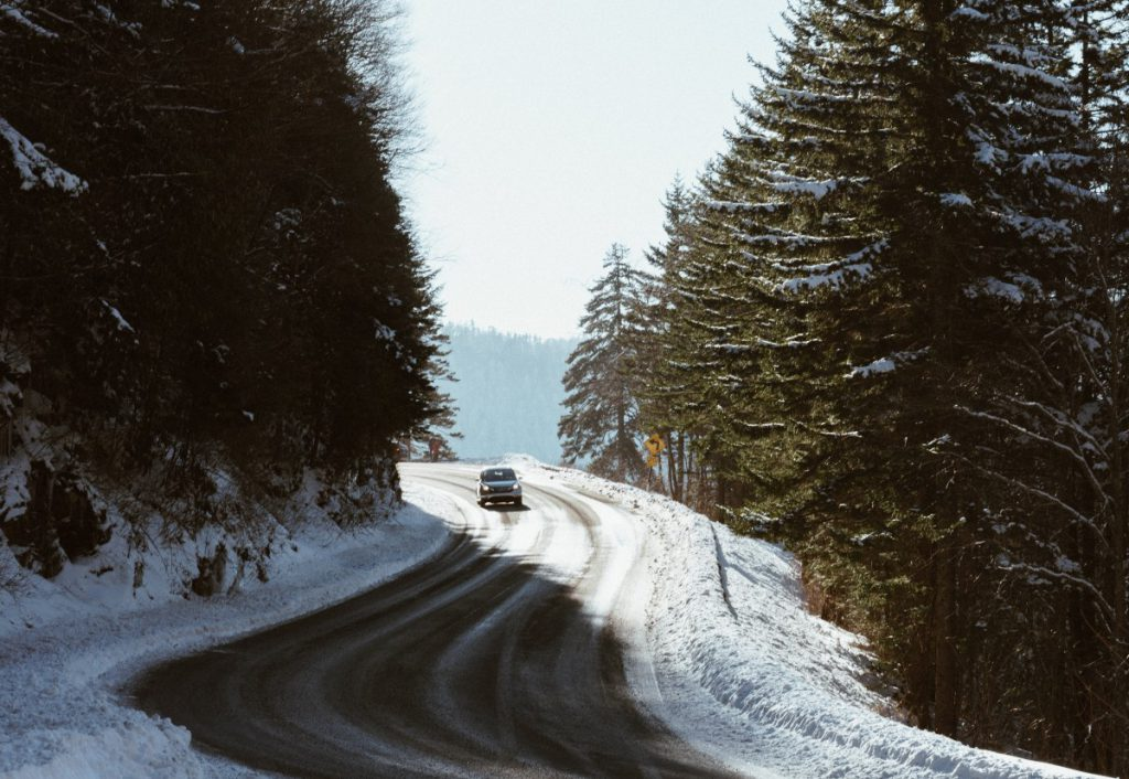 Cesta lesem v zimě