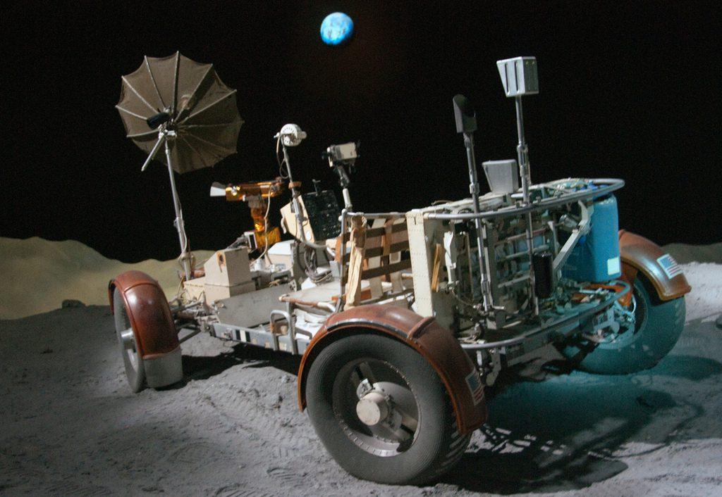 Lunární rover ve vesmírném centru v Houstonu