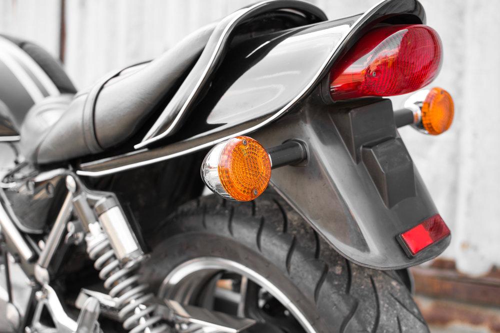 Umístění blinkrů na motorku