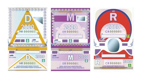 Desetidenní, měsíční a roční dálniční známka 2020