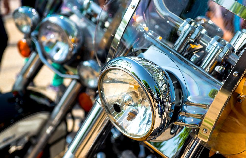 Přídavná světla na motocykl