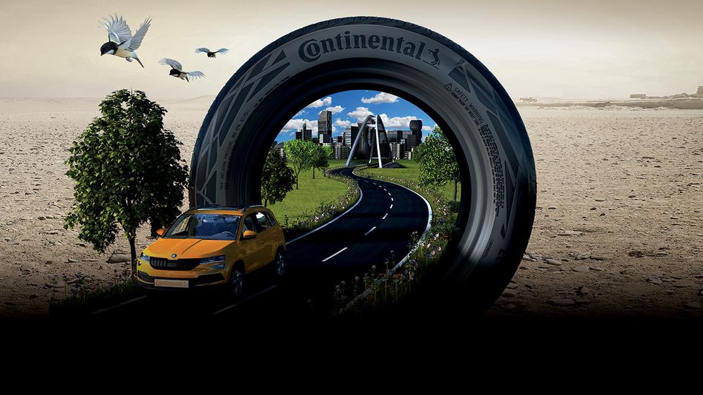 Vůz a pneumatika Continental