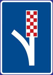 Dopravní značka Únikový pruh