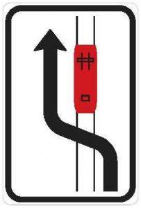 Dopravní značka Objíždění tramvaje