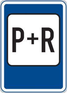 Dopravní značka Parkoviště P+R