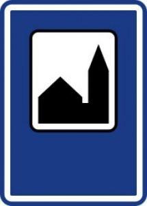 Dopravní značka Silniční kaple