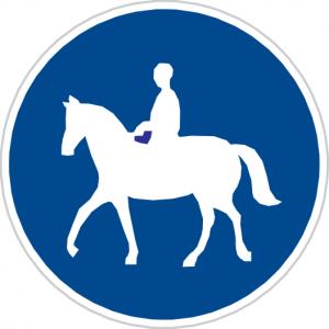 Dopravní značka Stezka pro jezdce na zvířeti