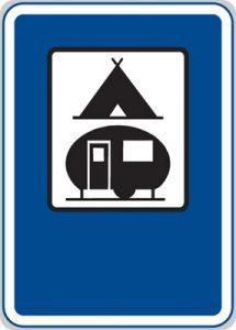 Dopravní značka Tábořiště pro stany a obytné přívěsy