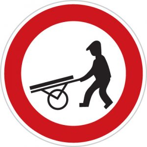 Dopravní značka Zákaz vjezdu ručních vozíků
