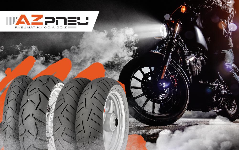 Motorka a pneumatiky Continental