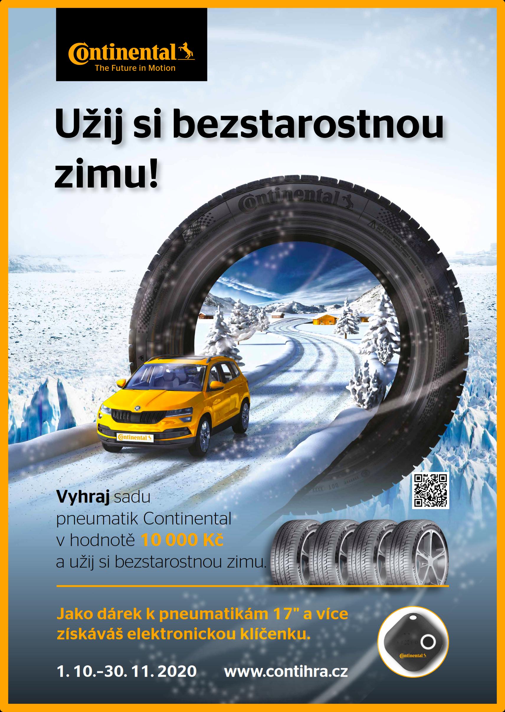 Vyhraj sadu zimních pneu Continental
