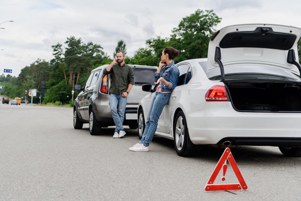 Výstražný trojúhelník upozorní další řidiče
