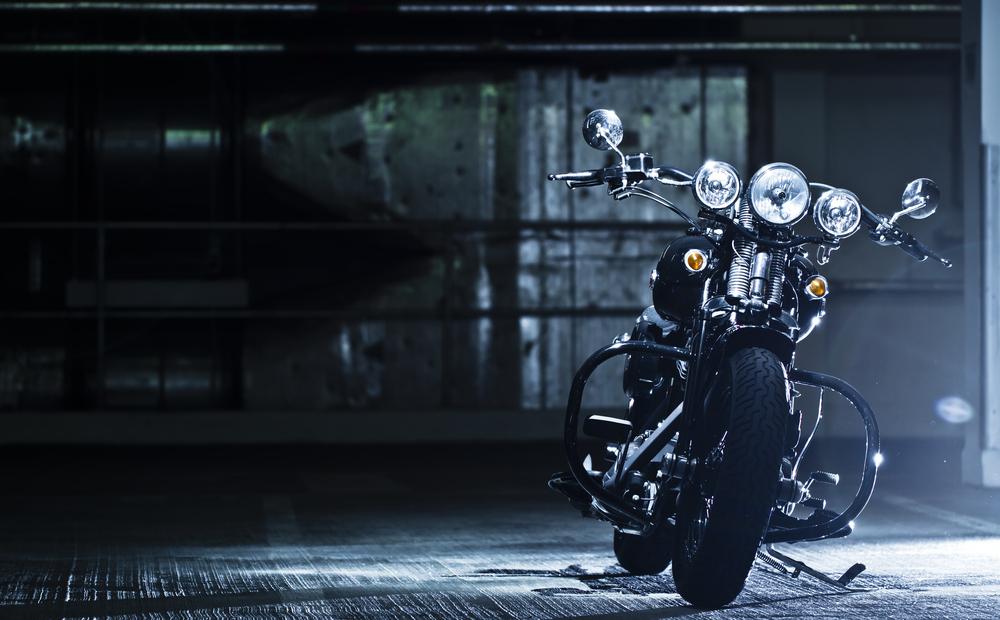 Zaparkovaná motorka