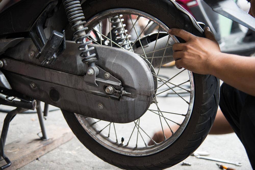 Zadní kolo motorky