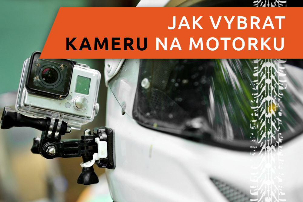 Kamera připevněná na motorce
