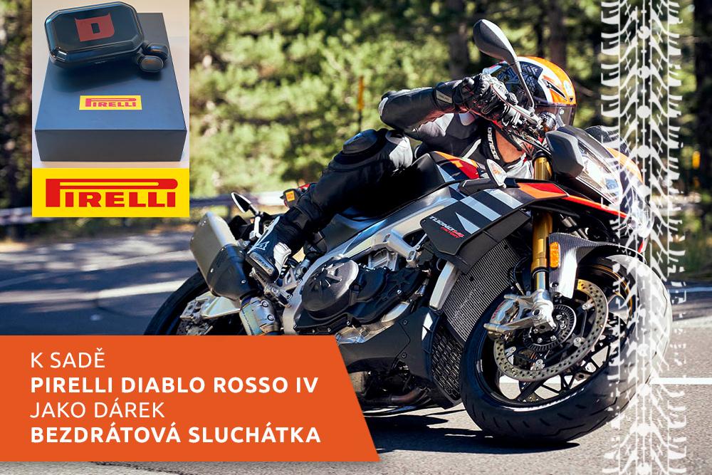 Silniční motocykl na pneumatikách Pirelli Diablo Rosso IV