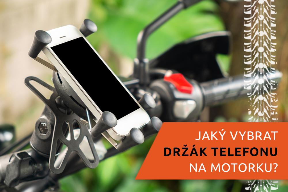 Držák telefonu na řídítkách motocyklu