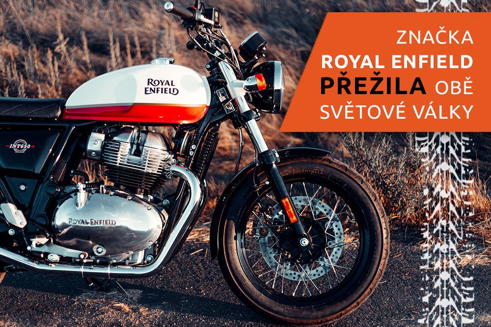 Stojící motocykl Royal Enfield
