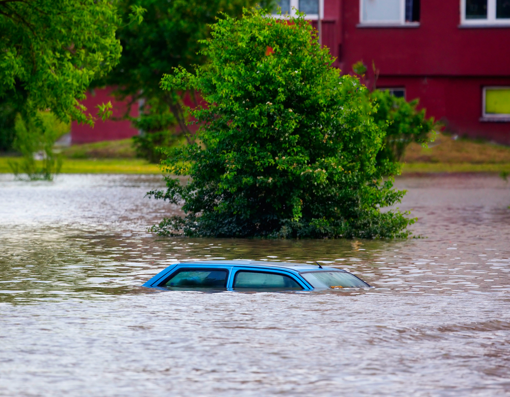Potopené auto